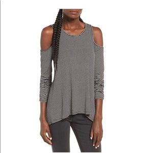 NWT-Lush Cold Shoulder Strip Top (Size:Small)